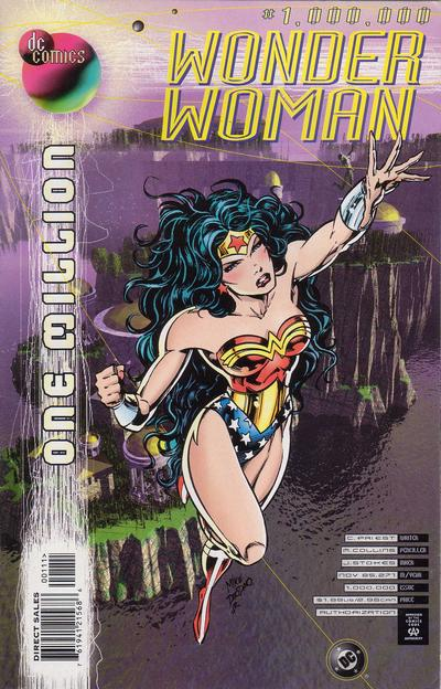 Cover for Wonder Woman (DC, 1987 series) #1,000,000 [Newsstand]