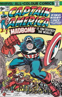 Cover Thumbnail for Captain America (Marvel, 1968 series) #193 [British]