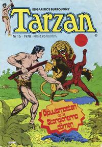 Cover Thumbnail for Tarzan (Atlantic Förlags AB, 1977 series) #16/1978