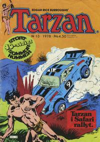 Cover Thumbnail for Tarzan (Atlantic Förlags AB, 1977 series) #13/1978