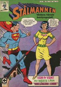 Cover Thumbnail for Stålmannen (Centerförlaget, 1949 series) #6/1968