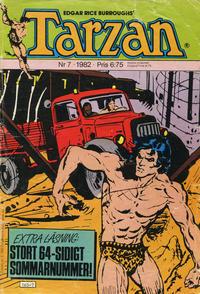 Cover Thumbnail for Tarzan (Atlantic Förlags AB, 1977 series) #7/1982