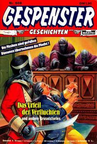 Cover Thumbnail for Gespenster Geschichten (Bastei Verlag, 1974 series) #508