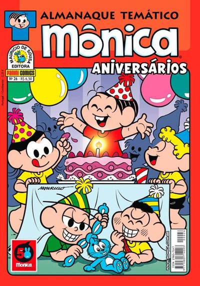 Cover for Almanaque Temático (Panini Brasil, 2007 series) #26 - Mônica: Aniversários