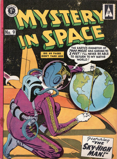 Cover for Mystery in Space (Thorpe & Porter, 1958 ? series) #9