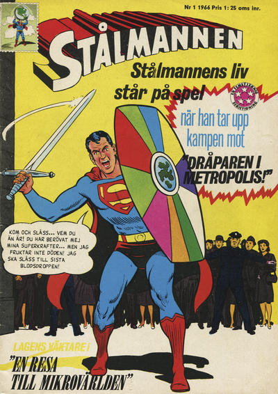 Cover for Stålmannen (Centerförlaget, 1949 series) #1/1966