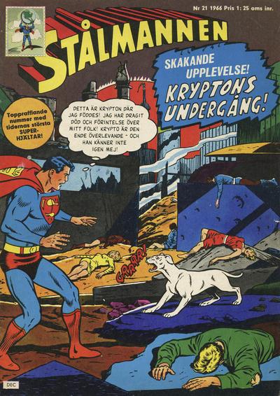 Cover for Stålmannen (Centerförlaget, 1949 series) #21/1966