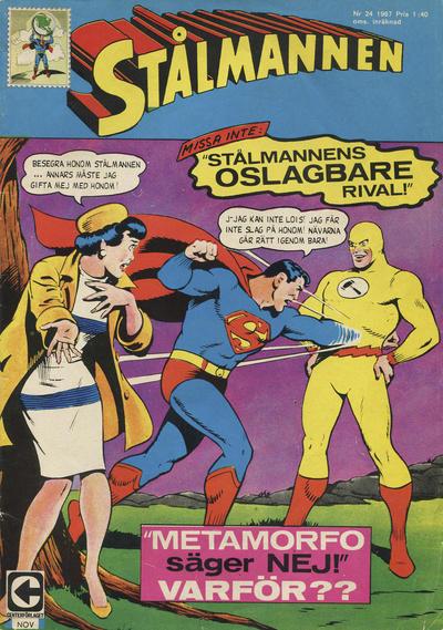 Cover for Stålmannen (Centerförlaget, 1949 series) #24/1967