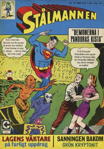 Cover for Stålmannen (Centerförlaget, 1949 series) #10/1968