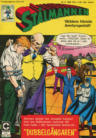 Cover for Stålmannen (Centerförlaget, 1949 series) #9/1969