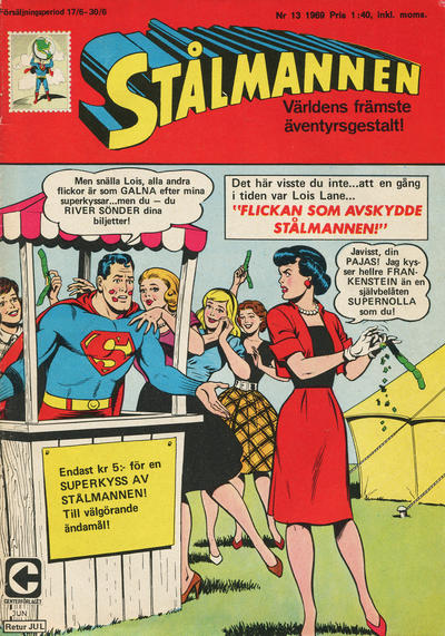 Cover for Stålmannen (Centerförlaget, 1949 series) #13/1969