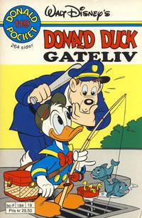 Cover Thumbnail for Donald Pocket (Hjemmet / Egmont, 1968 series) #119 - Donald Duck Gateliv [1. opplag]