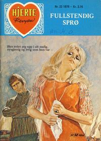 Cover Thumbnail for Hjerterevyen (Serieforlaget / Se-Bladene / Stabenfeldt, 1960 series) #22/1978