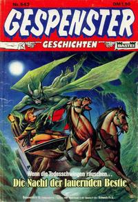 Cover Thumbnail for Gespenster Geschichten (Bastei Verlag, 1974 series) #543