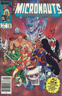Cover Thumbnail for Micronauts (Marvel, 1984 series) #1 [Canadian]