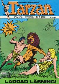 Cover Thumbnail for Tarzan (Atlantic Förlags AB, 1977 series) #1/1988