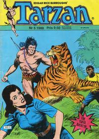 Cover Thumbnail for Tarzan (Atlantic Förlags AB, 1977 series) #5/1988