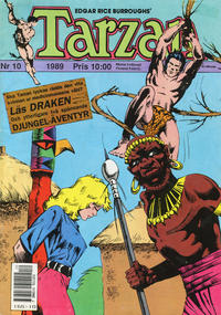 Cover Thumbnail for Tarzan (Atlantic Förlags AB, 1977 series) #10/1989