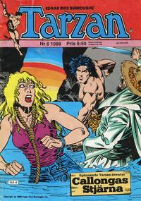 Cover Thumbnail for Tarzan (Atlantic Förlags AB, 1977 series) #6/1988