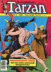 Cover Thumbnail for Tarzan (Atlantic Förlags AB, 1977 series) #3/1989