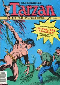 Cover Thumbnail for Tarzan (Atlantic Förlags AB, 1977 series) #6/1989