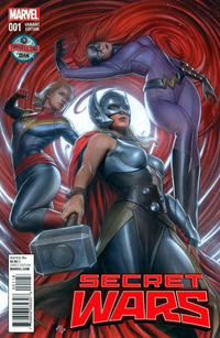 Cover Thumbnail for Secret Wars (Marvel, 2015 series) #1 [Travelling Man Exclusive Adi Granov Variant]