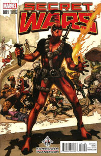 Cover Thumbnail for Secret Wars (Marvel, 2015 series) #1 [Forbidden Planet Exclusive Simone Bianchi Deadpool Variant]