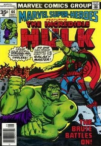 Cover for Marvel Super-Heroes (Marvel, 1967 series) #66 [30¢ Cover Price]