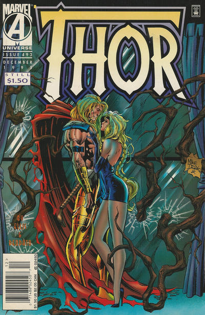 Cover for Thor (Marvel, 1966 series) #493 [Direct Edition]