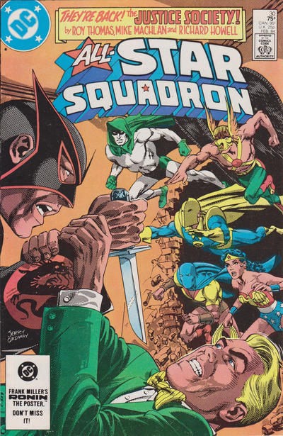 Cover for All-Star Squadron (DC, 1981 series) #30 [Newsstand]