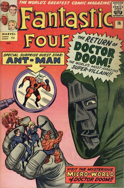 Cover for Fantastic Four (Marvel, 1961 series) #16 [Regular Edition]