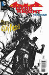 Cover for Batman: The Dark Knight (DC, 2011 series) #23 [Alex Maleev Black & White Cover]
