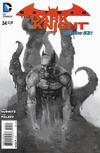 Cover for Batman: The Dark Knight (DC, 2011 series) #24 [Alex Maleev Black & White Cover]