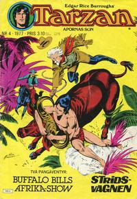 Cover Thumbnail for Tarzan (Atlantic Förlags AB, 1977 series) #4/1977