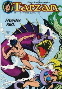 Cover Thumbnail for Tarzan (Atlantic Förlags AB, 1977 series) #11/1977