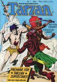 Cover Thumbnail for Tarzan (Atlantic Förlags AB, 1977 series) #1/1981