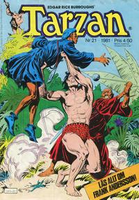 Cover Thumbnail for Tarzan (Atlantic Förlags AB, 1977 series) #21/1981