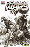 Cover Thumbnail for Secret Wars (2015 series) #1 [Wizard World Comic Con Box Exclusive Black and White Variant - Mike Deodato]