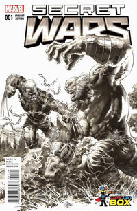 Cover Thumbnail for Secret Wars (Marvel, 2015 series) #1 [Wizard World Comic Con Box Exclusive Black and White Variant - Mike Deodato]