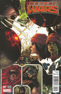 Cover Thumbnail for Secret Wars (Marvel, 2015 series) #1 [Retailer Incentive Simone Bianchi Connecting Variant]