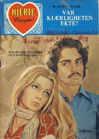 Cover Thumbnail for Hjerterevyen (Serieforlaget / Se-Bladene / Stabenfeldt, 1960 series) #20/1977