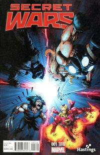 Cover Thumbnail for Secret Wars (Marvel, 2015 series) #1 [Hastings Exclusive Variant - Whilce Portacio]