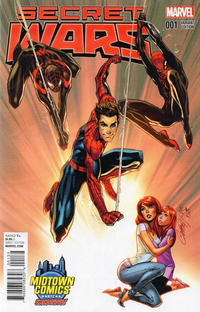 Cover Thumbnail for Secret Wars (Marvel, 2015 series) #1 [Midtown Exclusive J. Scott Campbell Color Variant]