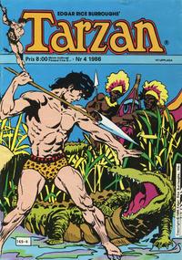 Cover Thumbnail for Tarzan (Atlantic Förlags AB, 1977 series) #4/1986