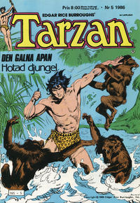 Cover Thumbnail for Tarzan (Atlantic Förlags AB, 1977 series) #5/1986