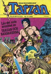 Cover Thumbnail for Tarzan (Atlantic Förlags AB, 1977 series) #12/1986