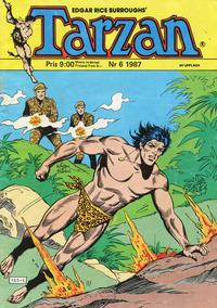 Cover Thumbnail for Tarzan (Atlantic Förlags AB, 1977 series) #6/1987