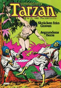 Cover Thumbnail for Tarzan (Atlantic Förlags AB, 1977 series) #15/1980