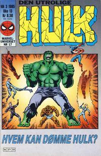 Cover Thumbnail for Hulk (Semic, 1984 series) #3/1985