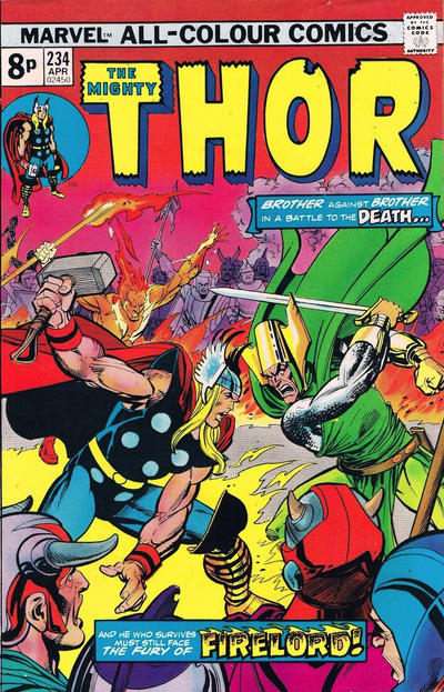 Cover for Thor (Marvel, 1966 series) #234 [British]